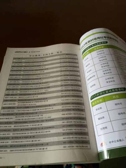 中公版·2015农村信用社招聘考试专用教材:考前必做2000题(农信社考试通用) 晒单图