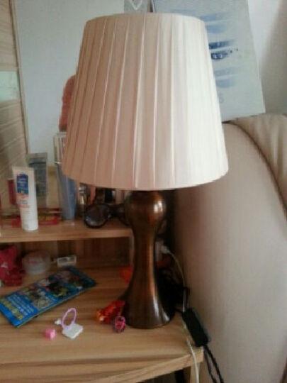 生活旺 现代简约欧式卧室婚庆台灯 创意装饰台灯床头灯红色复古金属灯具 香槟金 按钮开关 晒单图
