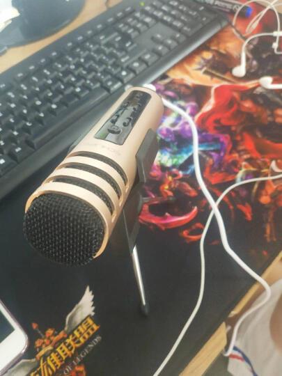 意创生活 手机麦克风全民K歌神器电容麦克风话筒主播声卡电脑直播套装唱吧录音唱歌录歌变声器抖音安卓苹果 玫瑰金+MV视频大支架+耳机 晒单图