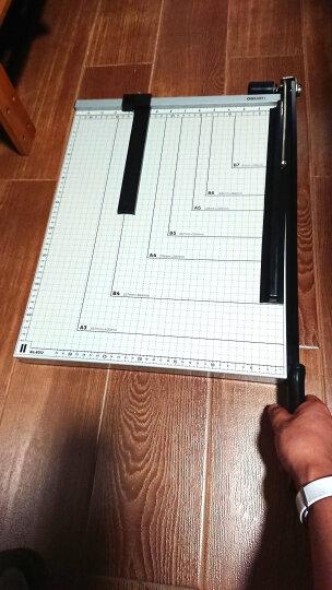 得力(deli) 木质切纸刀裁纸刀切纸机铡刀裁纸机照片切刀铡刀 钢质切纸刀460*380mm 晒单图