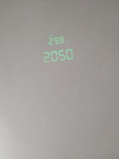 欧西亚(Oregon Scientific) RRM222P温度收音机投影钟电子闹钟创意静音夜光时钟 荧光色 晒单图