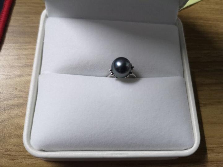 源生珠宝 娥娜  海水珍珠戒指 大溪地黑珍珠戒指女款 10-11mm 下单请备注戒指号数 晒单图