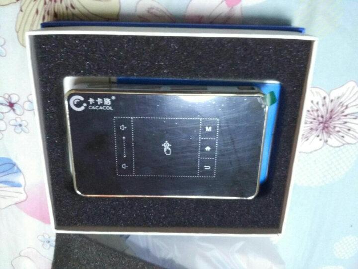 卡卡洛 手机投影仪家用迷你办公投影机1080p高清无线3D无屏电视wifi微型便携式投影 白色-T11-32G-2000流明度 晒单图
