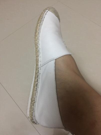 Tata/他她休闲鞋女夏季渔夫鞋子学生单鞋女一脚蹬懒人鞋平底女鞋2FY35AQ7 白色 35 晒单图