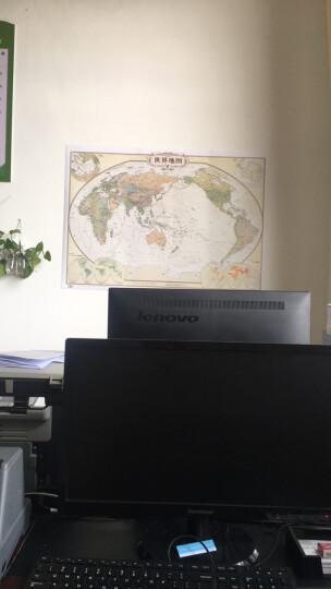 仿古地图挂图:中国地图+世界地图(套装2张1.1米*0.8米 复古地图 赠3M粘贴胶 ) 晒单图