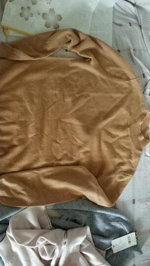 贝西卡 针织衫女半高领毛衣女新款冬季纯色羊毛衫女套头打底衫您出BX87095 高领柠檬黄 L 晒单图
