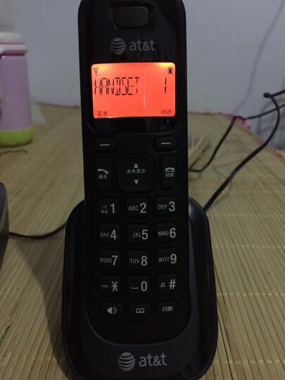 AT&T 34109  数字无绳子母机  家用办公 电话机 有线固定老人机 白+黑一拖二 晒单图