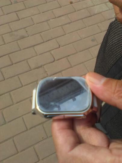 DMDG老人定位手表 儿童智能通话定位手表 手机电话手表 GPS定位老人防丢追踪 水晶银+棕色表带(适合手臂较粗者购买) 晒单图