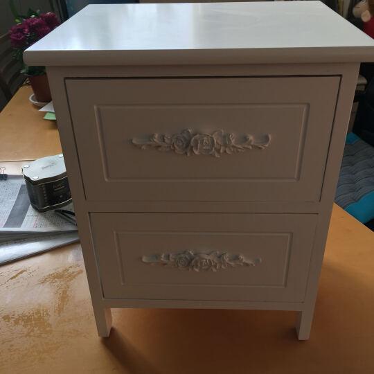 妙意轩 实木床头柜 小收纳储物柜斗柜 简约时尚储物柜 大号C款 晒单图