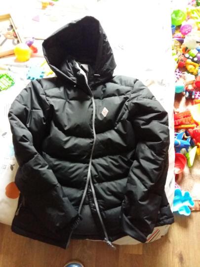 黑冰天枢冬季加厚款户外羽绒服男白鹅绒天璇PLUS羽绒衣女F8509/8512 男款天枢PLUS-黑色 L 晒单图