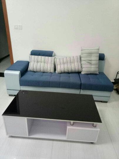 佐尔适 沙发 布艺沙发 现代简约大小户型皮布沙发 客厅家具 【标准版】四件套 送地毯 晒单图