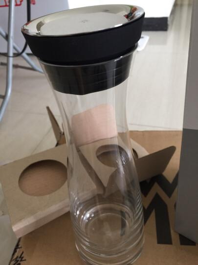 WMF德国福腾宝凉水壶 大容量无铅玻璃夏季冷水壶 玻璃壶冰镇果汁瓶1L-可改链接 玫瑰金 晒单图