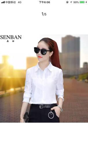 森扮白衬衫女长袖2018新款韩版职业OL工作服上衣棉短袖衬衣 白色 不加绒 XL(建议116-125斤穿着) 晒单图
