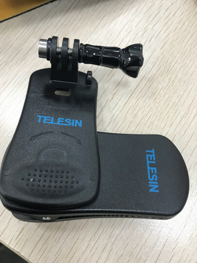 TELESIN Gopro6背包夹HERO5 4配件360度可旋转固定夹 小蚁4K相机适用 小蚁背包夹送转接头 晒单图