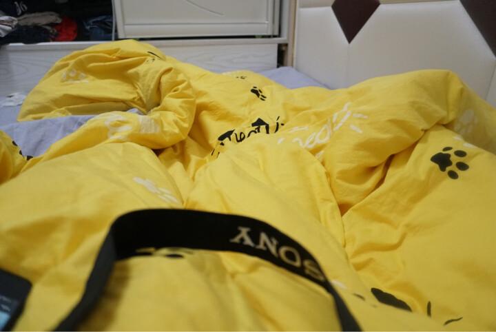 简丽(janlee)床上四件套纯棉 夏季全棉斜纹双人床单被单被罩枕套1.5/1.8米床(被套200*230)都市密码 晒单图
