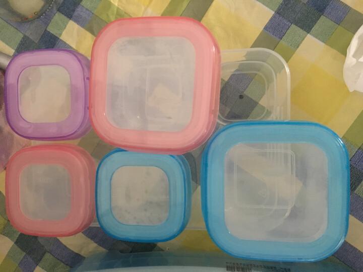 好伊贝(HOY BELL) 婴儿辅食盒零食盒宝宝奶粉盒便携保鲜冷藏盒密封盒收纳盒 60ML6个装+双装硅胶勺 晒单图
