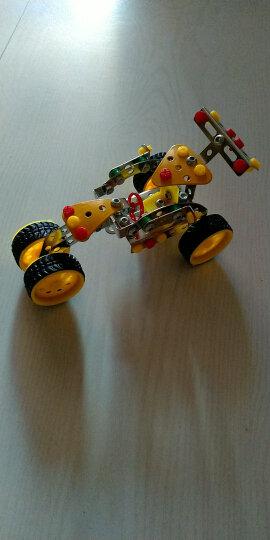 钢铁指挥官 儿童玩具拼装积木男孩10-14岁以上 金属摩托车模型拼插赛车 黑色吉普车 晒单图