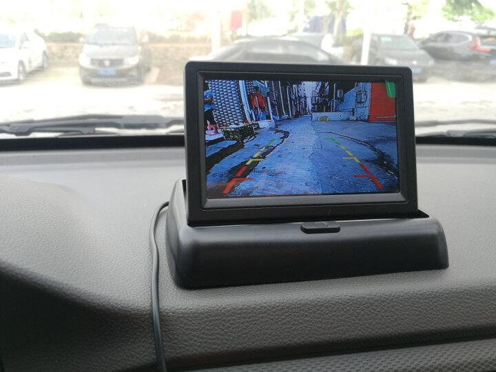 杰神汽车语音可视倒车雷达一体机12V小车24v货车高清夜视倒车影像系统 4.3寸折叠屏+简易安装线+小车摄像头 晒单图