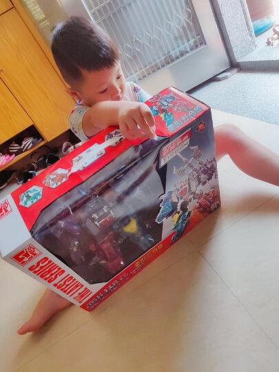 合体儿童模型变形玩具 合金版手动恐龙可变形玩具汽车人 五合一套装阿修罗变形恐龙 晒单图