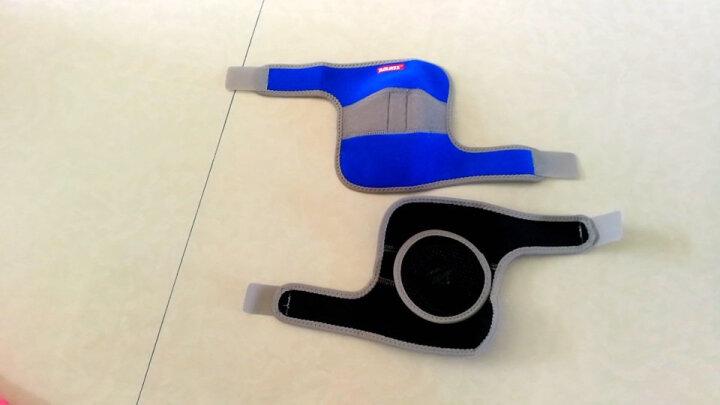 奥力克斯(AOLIKES)儿童护肘运动跳舞滑冰骑行足球防摔撞护臂舞蹈护具硅胶防滑男女 蓝色夹灰款一付 均码调节款适合肘围18-24厘米 晒单图