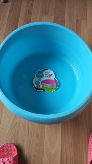 【特深洗衣盆】茶花塑料洗衣盆大号儿童洗浴盆加厚洗脚盆 大号蓝色 晒单图