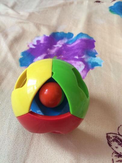 婴儿五彩感官手抓球铃铛球 叮当球学爬必备 小熊可爱造型 启蒙早教玩具 手抓球健身(三件套+不倒翁) 晒单图