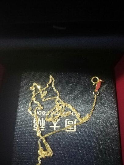 周大福(CHOW TAI FOOK)礼物 时尚水波链 18K金项链 E121035 980 45cm 晒单图