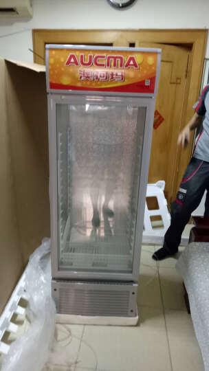 澳柯玛(AUCMA)单门立式展示柜 双层中空玻璃冷藏保鲜柜 饮料 啤酒冷藏箱 展示冰箱 晒单图