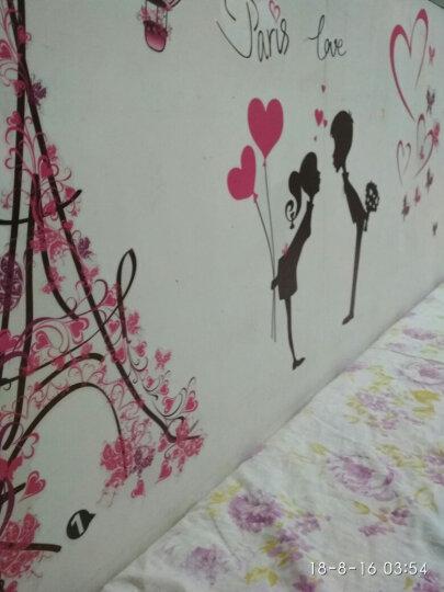 墙上贴画墙贴卧室温馨浪漫床头房间装饰墙壁贴纸墙纸自粘田园贴花 红色爱心三叶草 大 晒单图