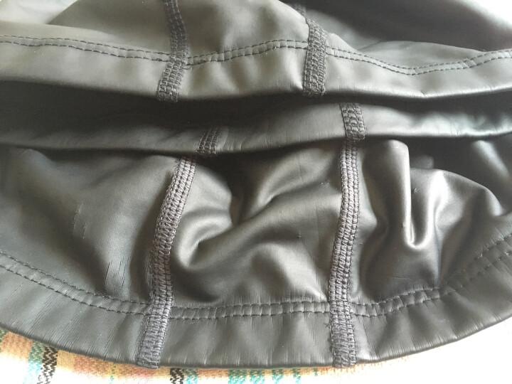 李宁 LI-NING 男女游泳帽 PU涂层长发防水泳帽 护耳舒适不嘞头 LSJL856 黑 晒单图