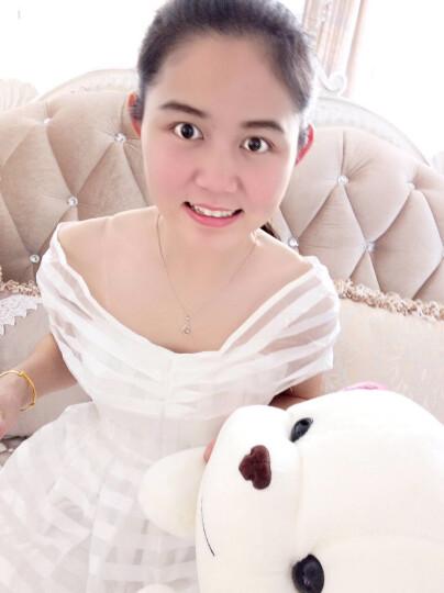 衣阁里拉欧美名媛风条纹网纱白色礼服裙 伴娘裙宴会礼服连衣裙 6684 白色6684 L 晒单图