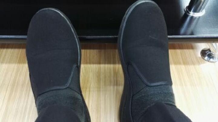 老北京传统布鞋 纯黑色休闲男单鞋 酒店工作鞋  9127款男布鞋 927圆口 42 晒单图