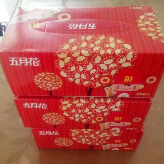 五月花(May Flower) 抽纸 纯厚经典2层200抽盒装面巾纸*3盒 晒单图