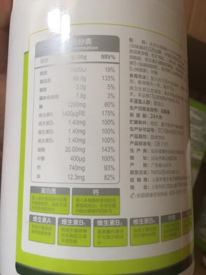 禾博士 多维矿物质 蛋白粉 乳清蛋白原料进口 大豆乳清双蛋白400g*桶 买一赠一 共2桶 晒单图