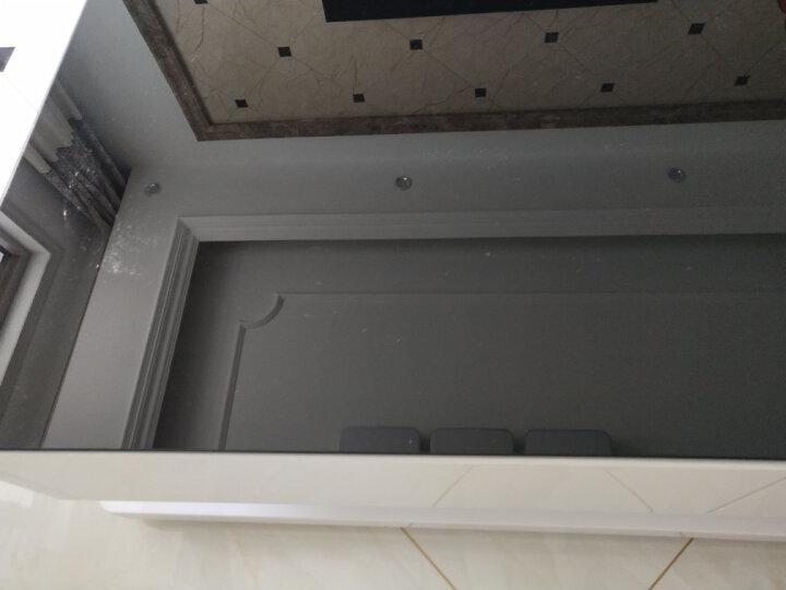 古宜 新款电视柜客厅简约现代电视机柜 中小户型电视柜套装背景墙茶几组合 钢化玻璃钢琴烤漆地柜 全套四件套(黑色台面) 晒单图