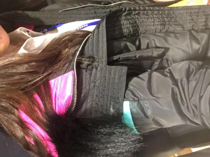 ULICI 冬季新款时尚大毛领羽绒服女中长款加厚 韩版修身显瘦 潮 卡其色 M 晒单图