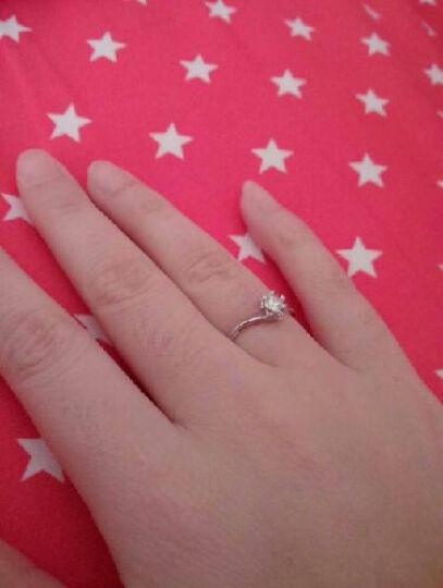 爱宝莉 18K金求订结婚钻石戒指/婚戒子裸钻/PT950铂金女士款珠宝钻戒 铂金30分FG 2.8克 晒单图