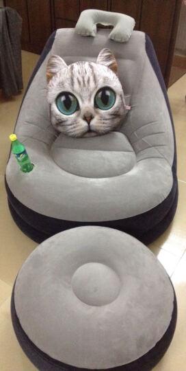 蔓斯菲尔 单人沙发创意卧室懒人沙发躺椅小沙发 午休安神贵妃椅 充气沙发椅子 灰沙发+脚墩+电泵+赠品 晒单图