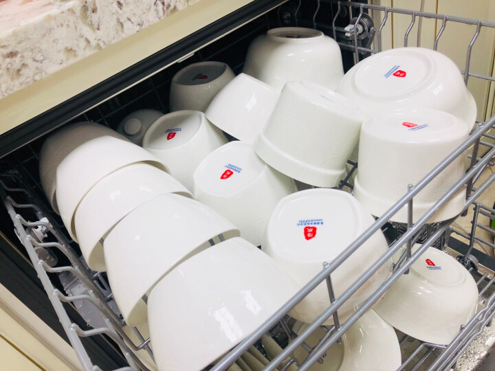 洛威 釉中彩家用简约碗碟套装中式58头骨瓷餐具陶瓷碗盘景德镇瓷器浮雕 玉龙白雪 晒单图