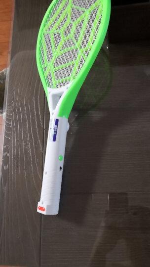 嘉柏兰 电蚊拍充电安全电蚊拍充电式三层大网面驱蚊器苍蝇拍灭蚊拍灭蝇拍驱蚊拍灭蚊器 青新绿 晒单图