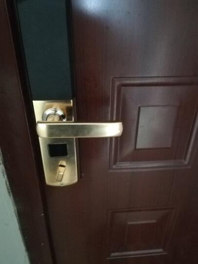 威恒指纹锁 智能锁 电子锁家用防盗门大门指纹密码锁门锁酒店锁 出租锁 土豪金+锁体+不包安装 晒单图