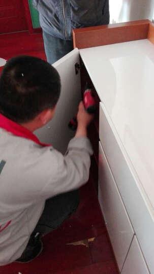 雅术 餐边柜 简约现代白色烤漆餐边柜 碗碟柜 储物柜子 餐边柜1.6米 (红橡色) 晒单图