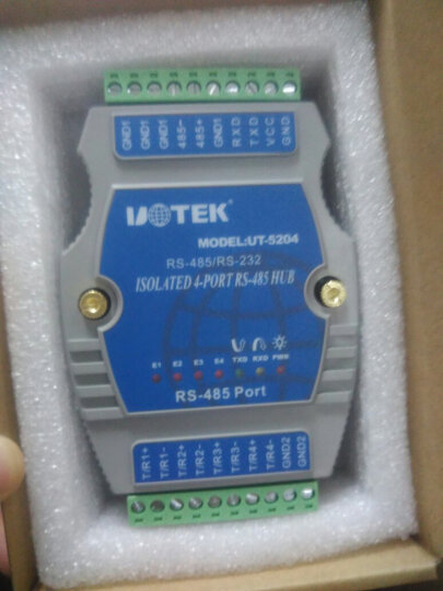 宇泰高科(utek) RS232/485转4口RS485集线器光电隔离485 HUB UT-5204 晒单图