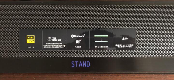 索尼(SONY)HT-CT800 家庭影院 回音壁 支持3D 4K无线蓝牙/NFC重低音环绕声电视音响 黑色 晒单图