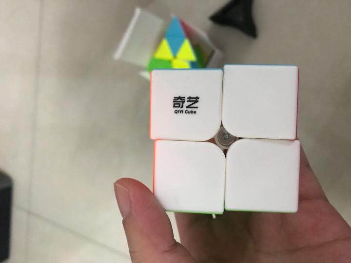 奇艺 魔方格2阶3阶4阶5阶魔方比赛专用三阶四阶 魔方组合精选套装免贴纸 益智玩具 新年送礼 奇艺启明金字塔黑 晒单图