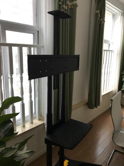NB CA70电视移动推车视频会议落地架白板一体机通用移动电视支架50-80英寸上下托盘 加粗双立柱 晒单图