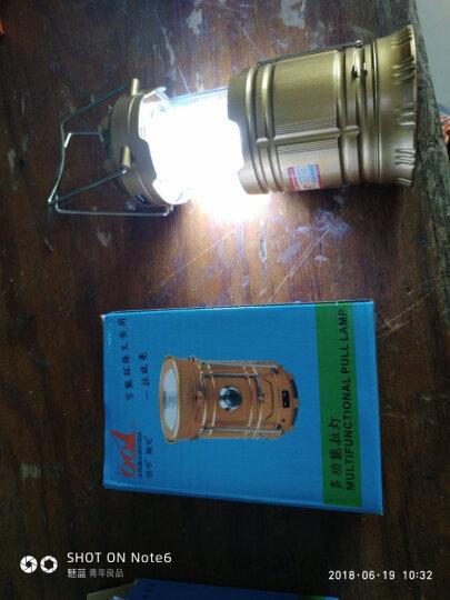 侣字 帐篷灯手电筒马灯太阳能充电户外露营灯 野营灯 户外照明 金色款 晒单图