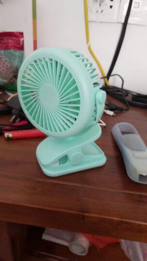 小风扇迷你可充电式 婴儿车风扇宝宝手推车夹扇锂电池 便携随身学生宿舍床上床头静音 充电夹扇-薄荷绿 晒单图