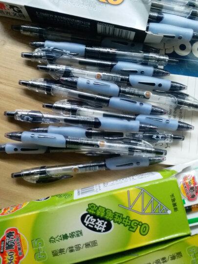 晨光(M&G)0.5mm蓝色办公按动子弹头中性笔签字笔水笔 12支/盒GP1163 晒单图