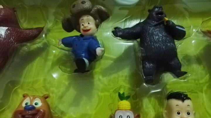 熊出没 熊熊乐园Q版熊大熊二光头强公仔过家家动漫公仔玩偶人物礼盒玩具 605滑梯套装 晒单图